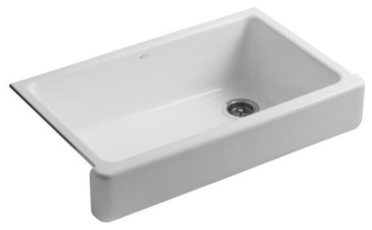 KOHLER: K-6488: Whitehaven™ Self-Trimming™ Apron Front Single Basin Sink wit traditional kitchen sinks