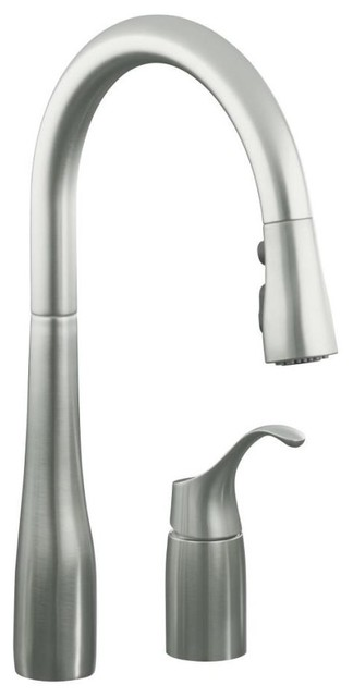 KOHLER K-647-VS Simplice Pull-Down Kitchen Sink Faucet in