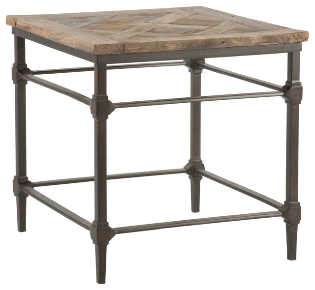 Mattix French Country Reclaimed Wood Side End Table Farmhouse Side Tables And End Tables