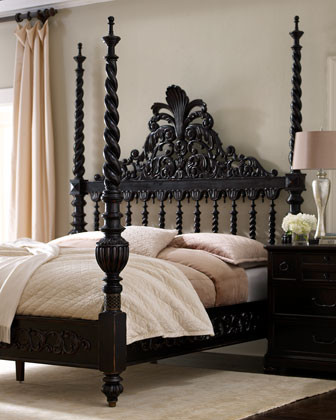Maitland-Smith Phillips King Poster Bed traditional beds