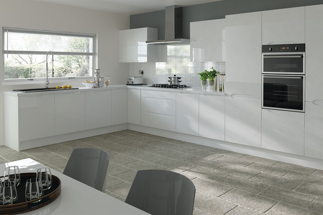 Trends Petworth High Gloss White Kitchen Doors Modern Kitchen Cabinets London By