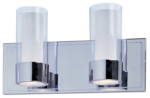 Maxim 23072CLFTPC Silo Bath Vanity - 14W in. Polished Chrome contemporary bathroom lighting and vanity lighting