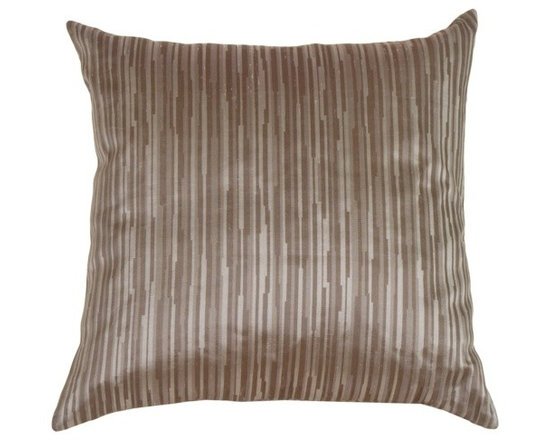 Pillow Decor - Pillow Decor - Horizon in Silver Blue Silk Accent Pillow - The offset stripe pattern of this accent pillow gives it a natural look and makes it an all around favorite that can be worked into a wide range of decor themes.