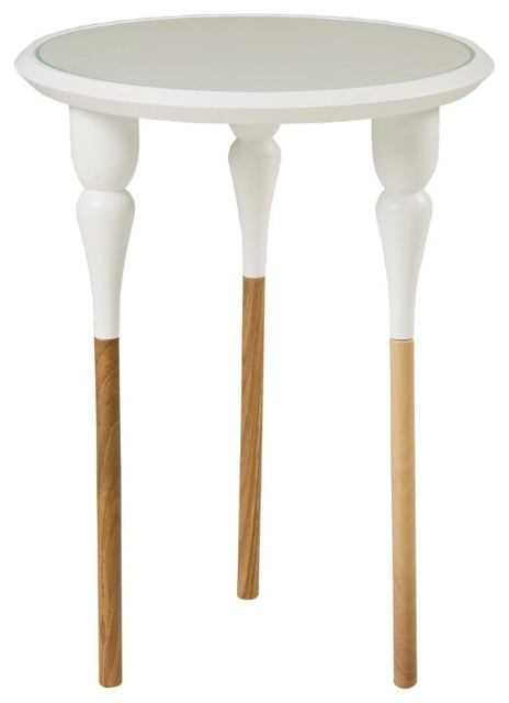 Phillippe White End Table modern-side-tables-and-end-tables