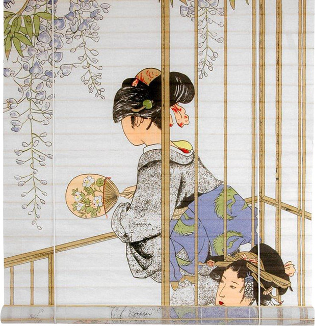 Geisha Shoji Blinds - (36 in. x 72 in.) traditional-window-blinds