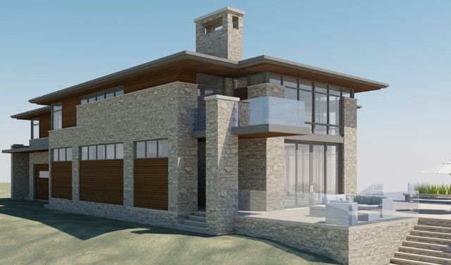 The Glass House modern-rendering