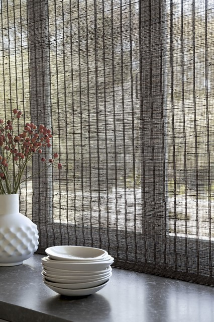 Smith noble natural woven flat fold shades midcentury for Smith and noble natural woven shades
