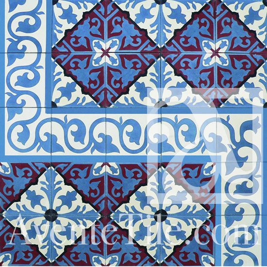 "Traditional Alcala Cement Tile 8"" x 8"" traditional-wall-and-floor-tile"
