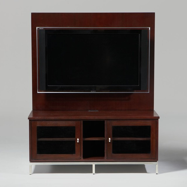 horizons studio staten media cabinet and panel traditional-media-storage