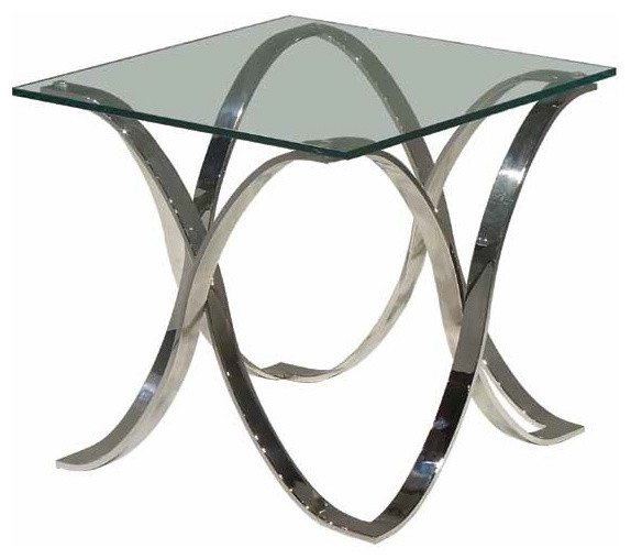 Orchid Side Table - Brushed Stainless modern-side-tables-and-end-tables