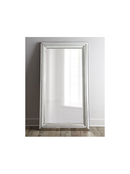 """Horchow - Rosinna Antiqued Mirror - Place our """"Rosinna"""" mirror in an entryway to make a grand opening statement or anywhere you want to expand your space. Clear center mirror is framed with beveled, antiqued mirrors. Designed to lean against a wall; anti-tip kit included. 47""""W x 2""""D x...."""
