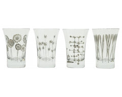 Platinum Etched Wineglasses contemporary-everyday-glasses