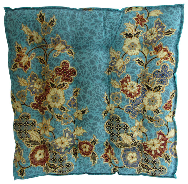 Blue Cotton Seat Cushion Tropical Seat Cushions By Garden Candy