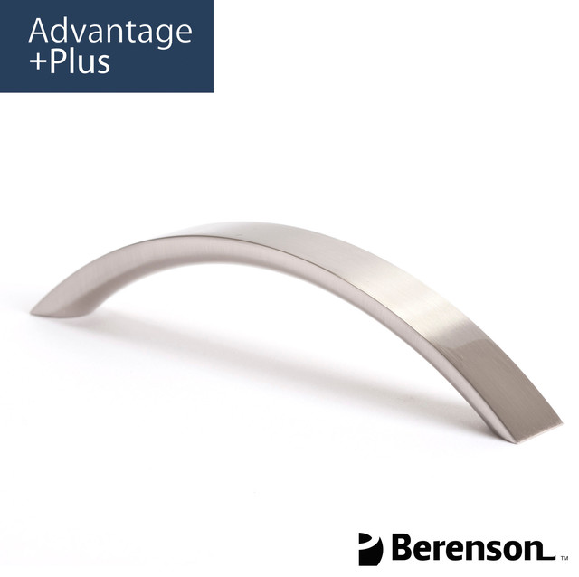 9398-1BPN-P Brushed Nickel Cabinet Pull by Berenson - Modern - Cabinet And Drawer Handle Pulls ...