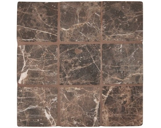 """Marbleville - Emperador Dark 4"""" x 4"""" Tumbled Marble Floor and Wall Tile - Premium Grade Emperador Dark 4"""" x 4"""" Tumbled is a splendid Tile to add to your decor. Its aesthetically pleasing look can add great value to any ambience. This Mosaic Tile is made from selected natural stone material. The tile is manufactured to high standard, each tile is hand selected to ensure quality. It is perfect for any interior projects such as kitchen backsplash, bathroom flooring, shower surround, dining room, entryway, corridor, balcony, spa, pool, etc."""