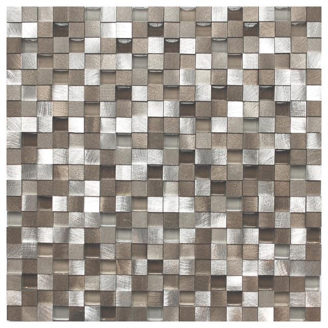 Metal Mosaic Tile For Bathroom Backsplahes contemporary-tile