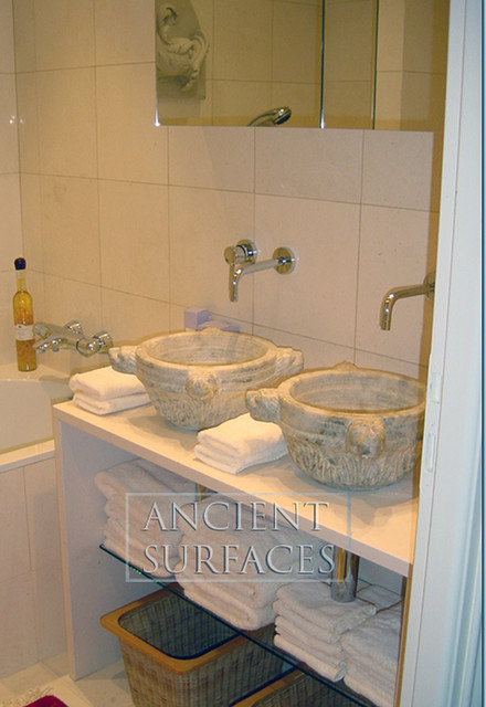 Bathroom Sinks (Mediterranean Style) mediterranean-powder-room
