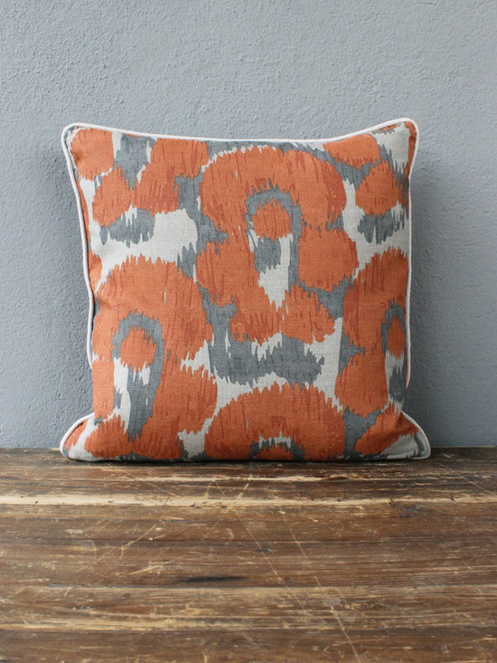 leopard orange pillow - view this item on our website for more information + purchasing availability: http://redinfred.com/shop/category/free-shipping/leopard-orange-pillow/