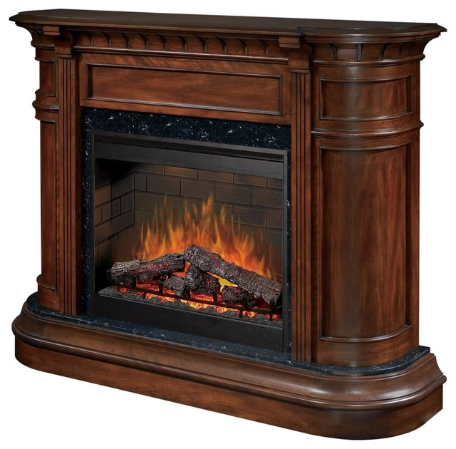 Traditional Dimplex Carlyle Walnut Electric Fireplace Traditional Indoor Fireplaces By