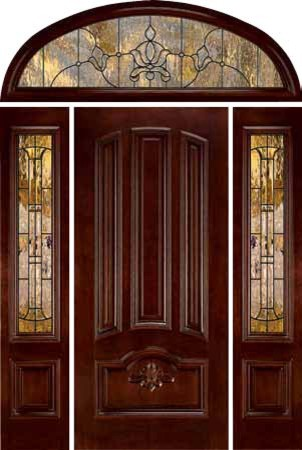 Jeld wen 465 carved mahogany door sidelights and transom - Jeld wen exterior doors with sidelights ...