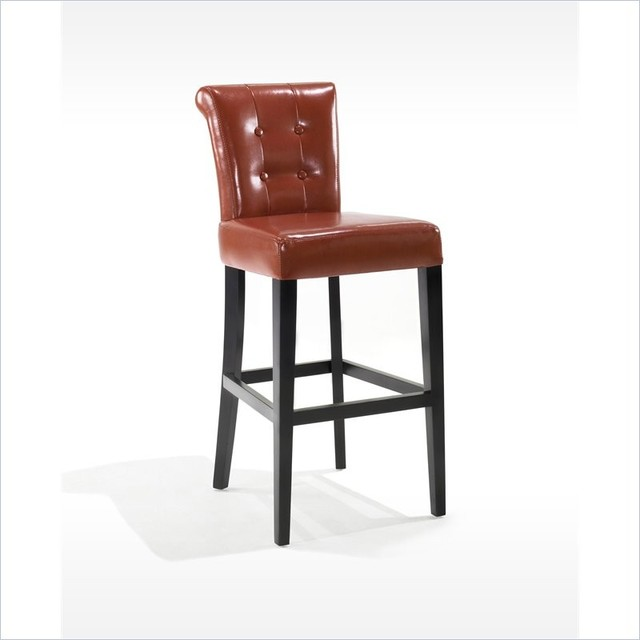 """Armen Living - Sangria 26"""" Stationary Tufted Burnt Sienna Bonded Leather Counter contemporary-bar-stools-and-counter-stools"""