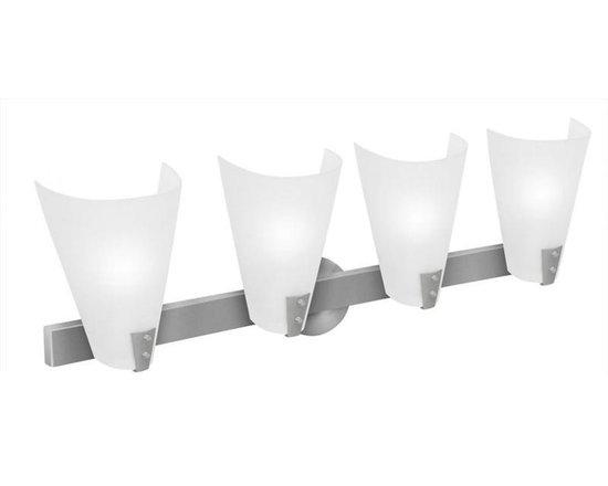 Access Lighting 23994-BS/LFR Four Light Steel Vanity -