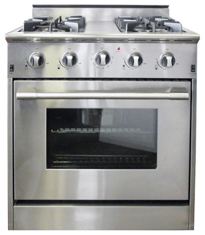 30 professional style freestanding stainless steel gas