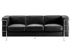 Zuo Fortress Collection Black Leather Sofa contemporary-sofas