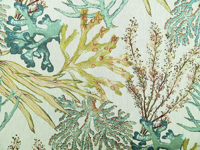 Coral Reef Caribbean Fabric - Beach Style - Upholstery Fabric - by ...