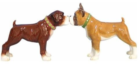 3.5 Inch Kitchenware Brown Boxer Dogs Salt and Pepper Shakers eclectic-salt-and-pepper-shakers-and-mills