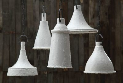 White Paint Drip Pendant Light - Clayton Gray Home pendant-lighting