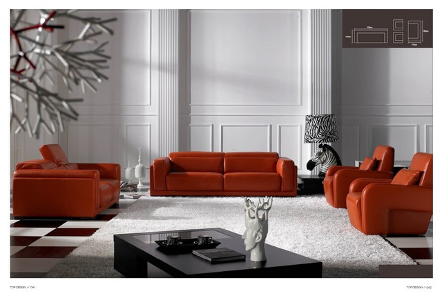 Leopold Italian Leather Sofa Set Modern Living Room Furniture Sets Los