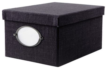 KVARNVIK Box with Lid, Dark Blue modern-storage-bins-and-boxes