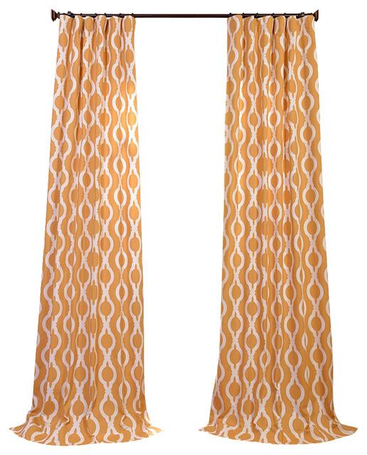Medina Printed Cotton Curtain contemporary-curtains