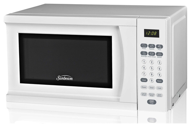 Sunbeam SGS90701W-B White 0.7-Cubic Foot Microwave Oven contemporary-microwave