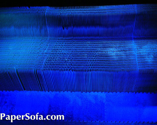 Flex7 - Paper Sofa - Eco Friendly 7.5m long Honeycomb Paper Couch - PaperSof - www.PaperSofa.com - Flexible Paper Furniture - Green Furniture - Sustainable Honeycomb Paper Furniture