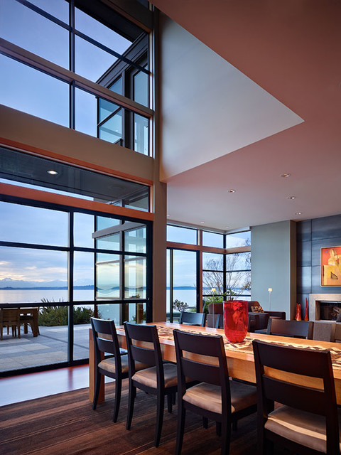 water front home contemporary-dining-room