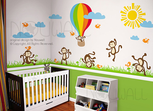 Kids wall decoration modern nursery decor other for Modern nursery decor