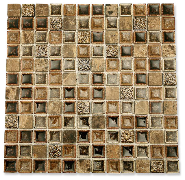 Roman Collection Chamoisee Glass Tile contemporary-tile