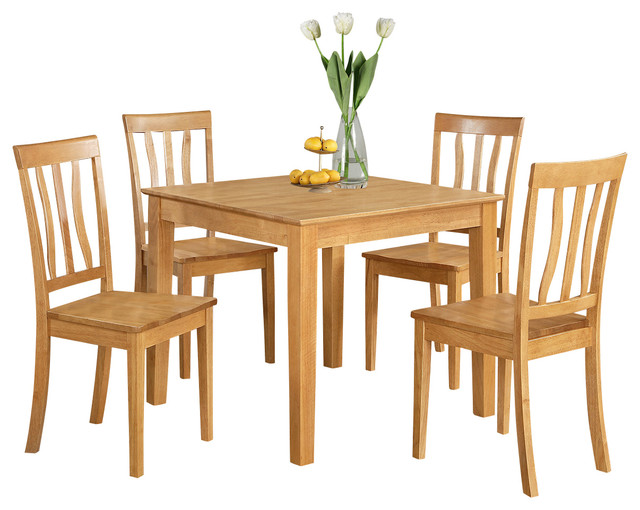 5 piece kitchen table square table and 4 kitchen chairs