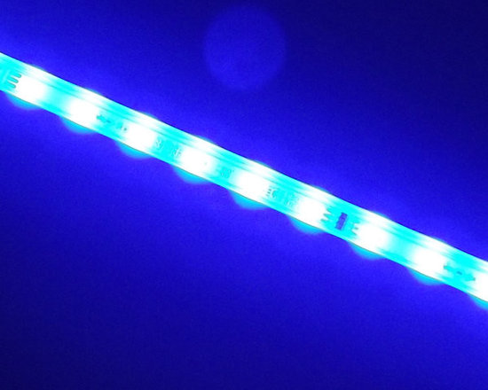 EnvironmentalLights - HBBlue455-24 LED Dimmable Grow Light (24 inch) (Blue 455 nm) - 455 nanometer blue is ideally suited for algae growth. Contact us for custom engineering if you have a large project. Blue 455 nm. Radiant flux = 2.27 watts. Power consumed = 10 watts. Very energy efficient. Efficacy = 0.227 watts of radiant flux/watts of power consumed. Length = 24.5 inches = 623 mm. 24 volts DC. Dimmable, if you use one of our dimming drivers. Long lived. We estimate 40,000 hours before radiant output falls to 70% of initial. Actual lifetime may vary, because we expect people to use these in challenging conditions; however, we believe they may last 7 years or longer if driven properly with well-regulated drivers. UV resistant, to stand up to the sun. IP66 waterproof (dust-tight, protected against powerful water jets.) You can use these outdoors and clean your bio reactor or other grow apparatus with a typical power washer. Each bar is 2 feet long (60 cm) and comes with 2 clips and screws. RoHS (Reduction of Hazardous Substances) compliant. Lead was not used to make these products.