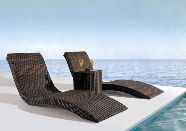 Arthen 3-Pieced Patio Lounge Set tropical outdoor chaise lounges