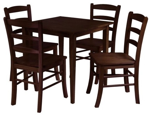 Winsome Groveland 5-Piece Dining Set - Antique Walnut modern-dining-tables