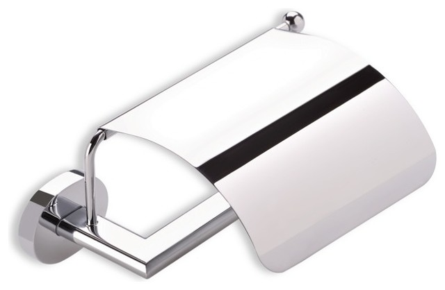 Toilet Roll Holder with Cover, Chrome contemporary-toilet-paper-holders
