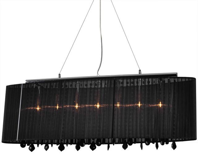 Bromi Design Jasmine 5-Light Crystal Pendant Black modern-pendant-lighting