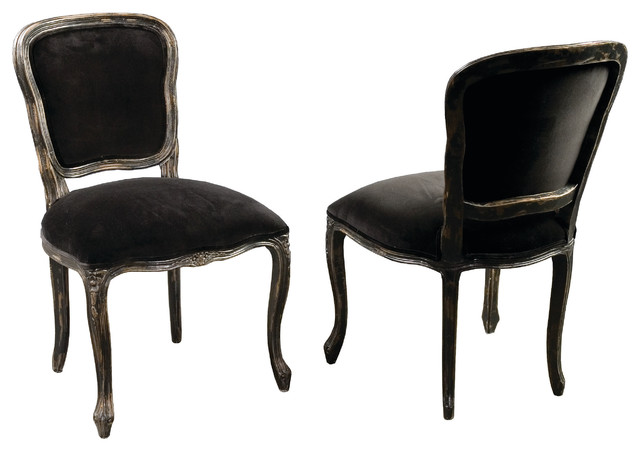 Orleans Dining Chair, French Black traditional-dining-chairs