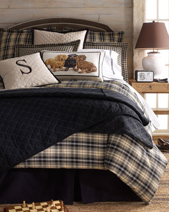 Daniel Stuart Studio Spencer Bed Linens Queen Plaid Duvet Cover, 96 x 98 traditional-sheets