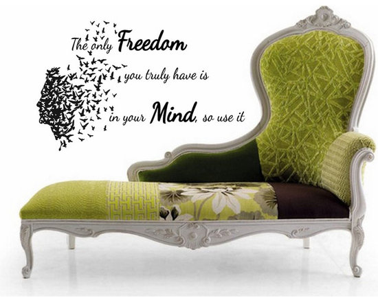 Vinyl Decals Freedom in Your Mind Quote Home Wall Art Decor Removable Stylish St -