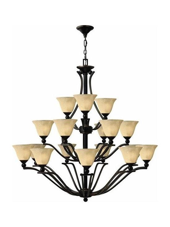 Hinkley Lighting 4659OB 3 Tier 18 Light Chandelier Bolla Collection -