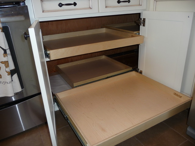Blind Corner Solutions - Kitchen Drawer Organizers - portland - by ShelfGenie of Portland